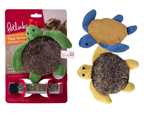 Picture of Petlinks Tipsy Turtle Refillable Catnip Toy - Assorted Colors