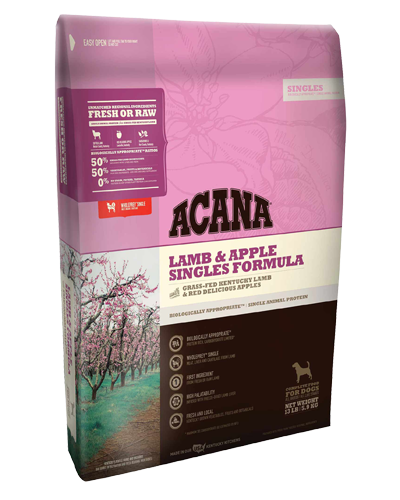 Picture of Acana Singles Limited Ingredient Lamb and Apple - 25 lb.