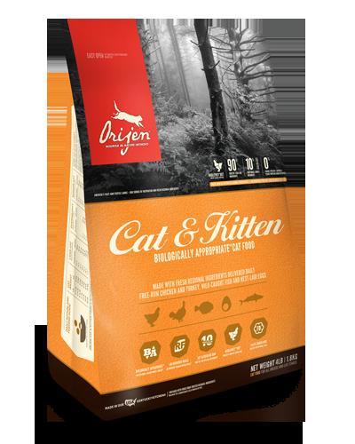 Picture of Orijen Grain Free Cat & Kitten Formula with Free-Run Chicken and Turkey - 4 lbs.