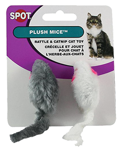Picture of Ethical Spot Plush Rattle & Catnip Mice - 2 Pack