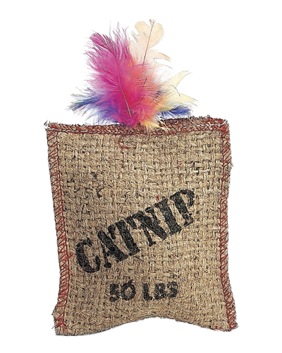 Picture of Ethical Jute & Feather Sack with Catnip
