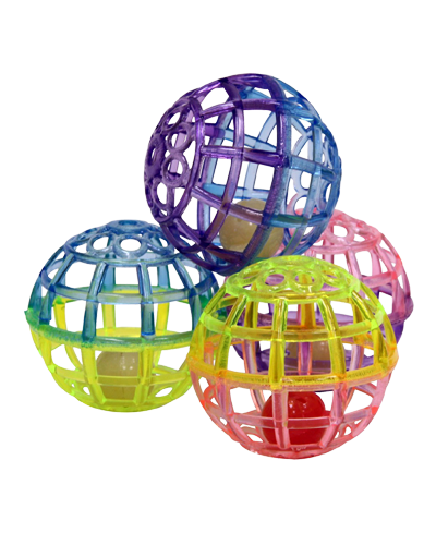 Picture of Ethical Lattice Balls with Bells - 4 Pack Assorted Colors