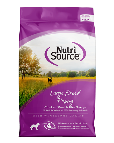 Picture of Nutrisource Large Breed Puppy Chicken & Rice Formula - 30 lbs.
