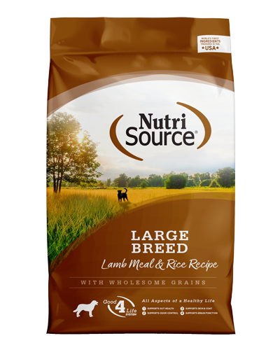 Picture of Nutrisource Large Breed Lamb Meal & Rice Formula - 33 lbs.