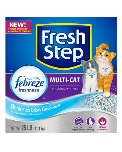 Picture of Fresh Step Multi-Cat Scented Litter with the Power of Febreze - 25 lb.