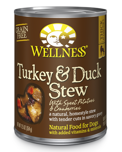 Picture of Wellness Homestyle Stew Grain Free Turkey & Duck Stew with Sweet Potatoes & Cranberries - 12.5 oz.