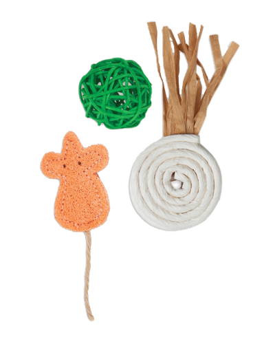Picture of Jackson Galaxy Natural Playtime Toys - 3 Pack