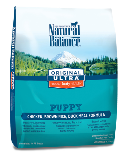 Picture of Natural Balance Original Ultra Whole Body Health Chicken, Brown Rice, and Duck Meal Puppy Formula - 14 lb.
