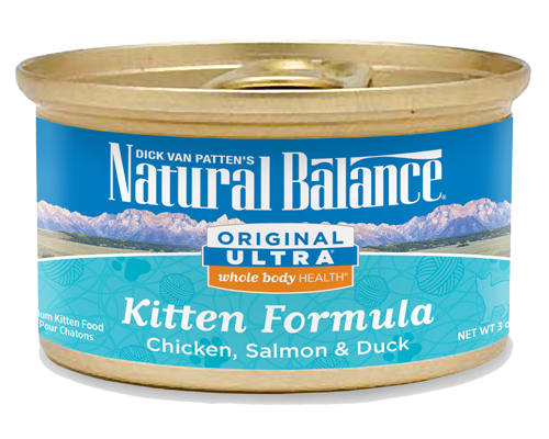 Picture of Natural Balance Original Ultra Whole Body Health Chicken, Salmon, and Duck Kitten Formula - 3 oz.