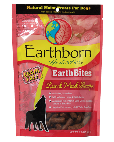 Picture of Earthborn Holistic EarthBites Grain Free Lamb Meal Recipe Treats - 7.5 oz.