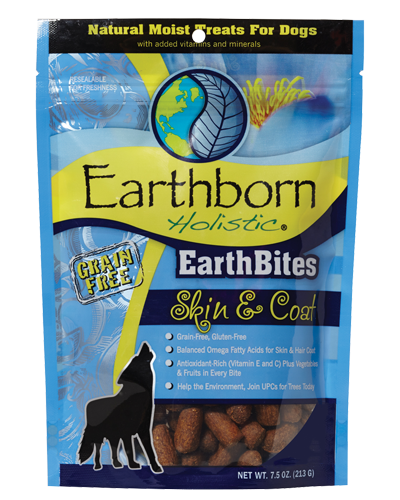 Picture of Earthborn Holistic EarthBites Grain Free Skin & Coat Treats - 7.5 oz.