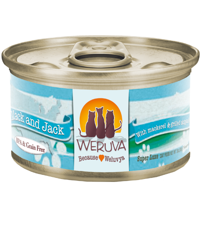 Picture of Weruva Grain Free Mack and Jack with Mackerel and Grilled Skipjack in Aspic - 3 oz.