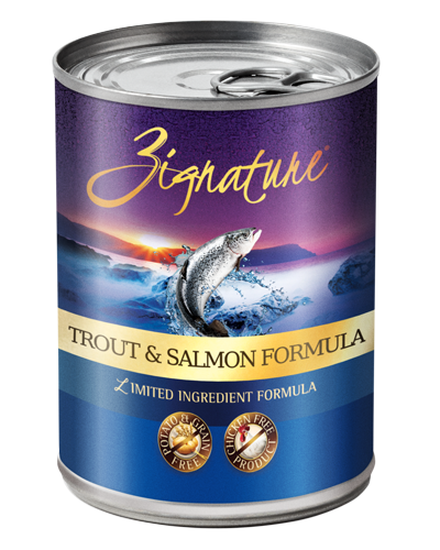 Picture of Zignature Grain Free Limited Ingredient Trout and Salmon Formula - 13 oz.