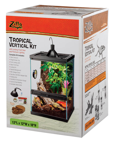 "Picture of Zilla Tropical Vertical Kit - 12"" x 12"" x 18"""