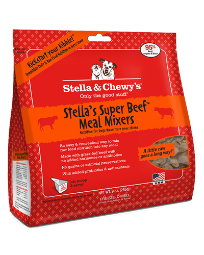 Picture of Stella & Chewy's Stella's Super Beef Freeze Dried Grain Free Meal Mixers - 9 oz.