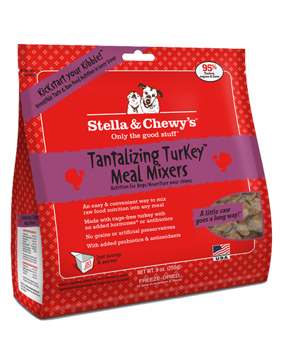 Picture of Stella & Chewy's Tantalizing Turkey Freeze Dried Grain Free Meal Mixers - 9 oz.