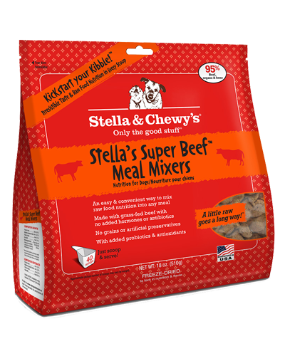 Picture of Stella & Chewy's Stella's Super Beef Freeze Dried Grain Free Meal Mixers - 18 oz.