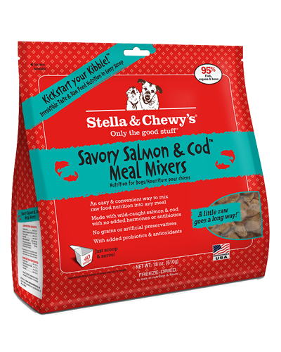 Picture of Stella & Chewy's Savory Salmon & Cod Freeze Dried Grain Free Meal Mixers - 18 oz.