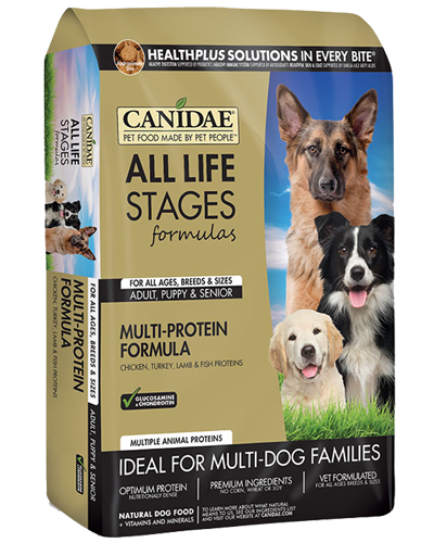 Picture of Canidae All Life Stages Multi-Protein Chicken, Turkey, Lamb, and Fish Meal Formula - 44 lb.