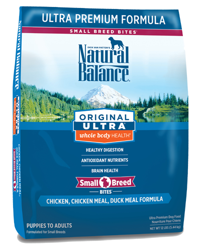 Picture of Natural Balance Original Ultra Whole Body Health Chicken, Chicken Meal, and Duck Meal Small Breed Bites Formula - 12 lb.