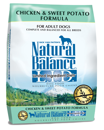 Picture of Natural Balance Limited Ingredient Diet Grain Free Chicken and Sweet Potato Formula - 13 lb.