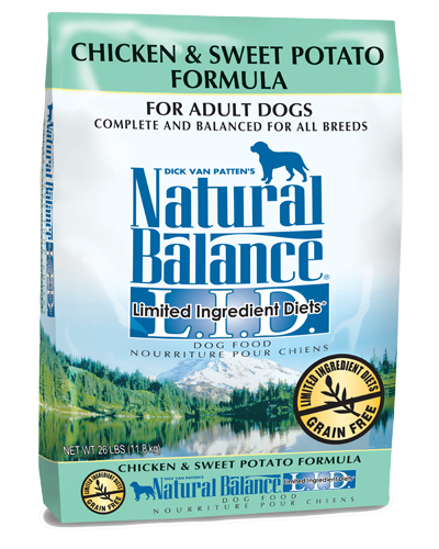 Picture of Natural Balance Limited Ingredient Diet Grain Free Chicken and Sweet Potato Formula - 26 lb.