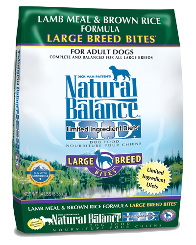 Picture of Natural Balance Limited Ingredient Diet Lamb Meal and Brown Rice Large Breed Bites Formula - 14 lb.
