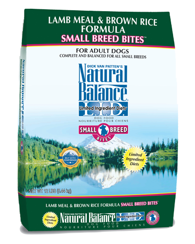 Picture of Natural Balance Limited Ingredient Diet Lamb Meal and Brown Rice Small Breed Bites Formula - 12 lb.