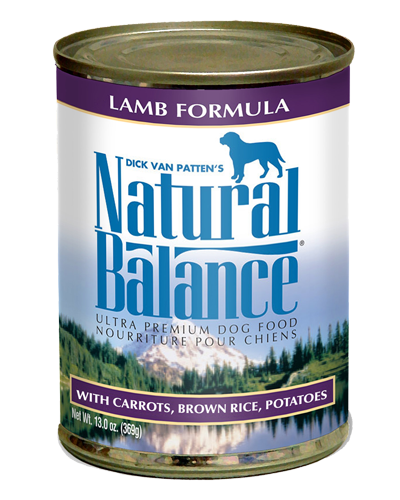 Picture of Natural Balance Ultra Premium Lamb Formula with Brown Rice, Potatoes, and Carrots - 13 oz.