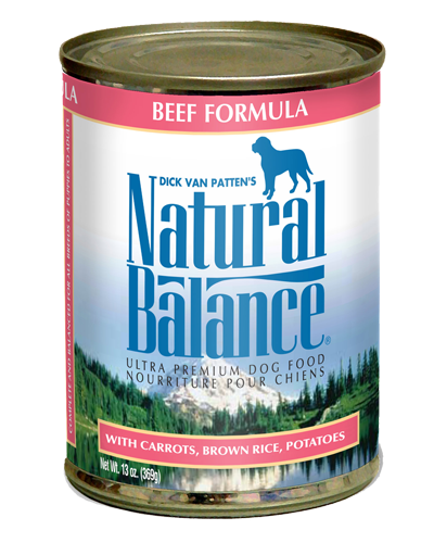 Picture of Natural Balance Ultra Premium Beef Formula with Potatoes, Carrots, and Brown Rice - 13 oz.