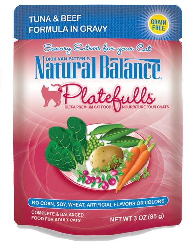 Picture of Natural Balance Platefulls Grain Free Tuna and Beef Formula in Gravy - 3 oz.