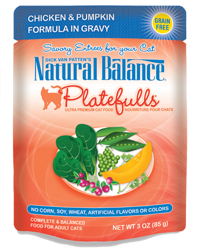 Picture of Natural Balance Platefulls Grain Free Chicken and Pumpkin Formula in Gravy - 3 oz.