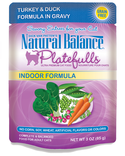Picture of Natural Balance Platefulls Grain Free Indoor Turkey and Duck Formula in Gravy - 3 oz.