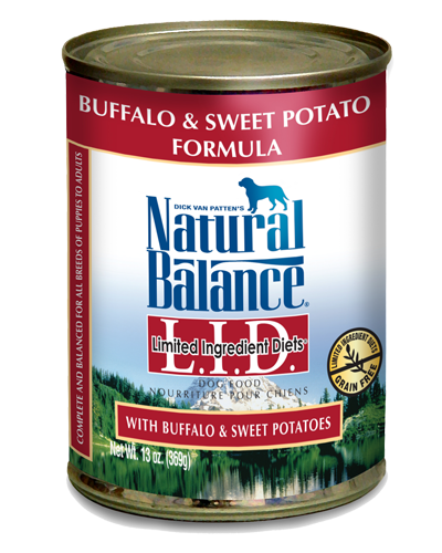 Picture of Natural Balance Limited Ingredient Diets Grain Free Buffalo and Sweet Potato Formula - 13 oz.