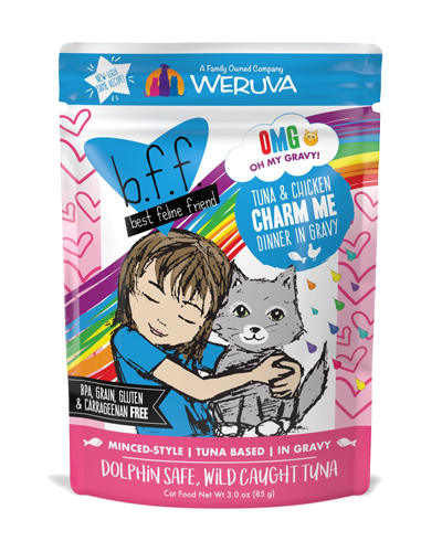 Picture of Weruva B.F.F. Grain Free Pouch Tuna and Chicken Charm Me Recipe in Gravy - 3 oz.