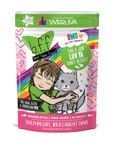 Picture of Weruva B.F.F. Grain Free Pouch Tuna and Lamb Luv Ya Recipe in Gravy - 3 oz.