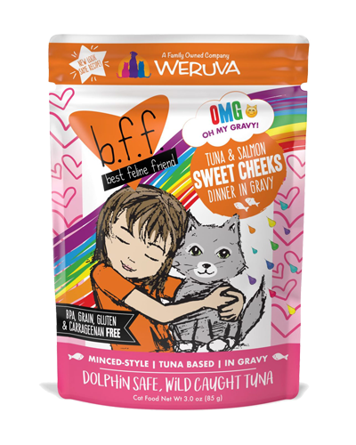 Picture of Weruva B.F.F. Grain Free Pouch Tuna and Salmon Sweet Cheeks Recipe in Gravy - 3 oz.