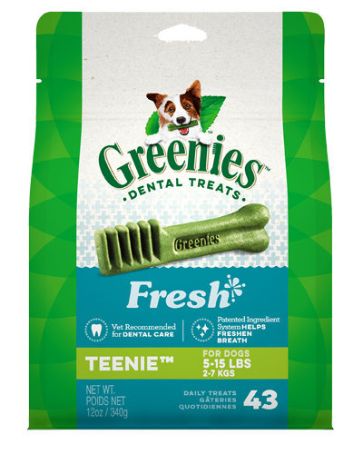 Picture of Greenies Fresh Teenie Dog Dental Treats - 12 oz.