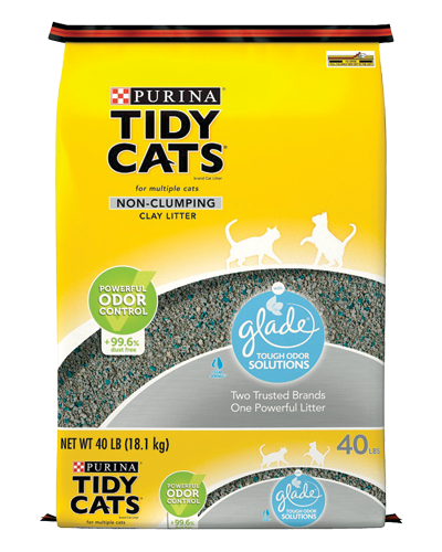 Picture of Purina Tidy Cats Glade Tough Odor Solutions Non-Clumping Cat Litter - 40 lb.