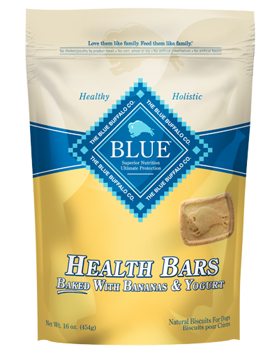 Picture of Blue Buffalo Health Bars Baked with Banana and Yogurt Natural Biscuits - 16 oz.