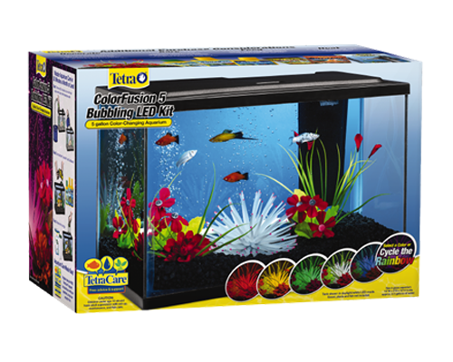 Picture of Tetra Colorfusion Bubbling LED Aquarium Kit - 5 Gallon