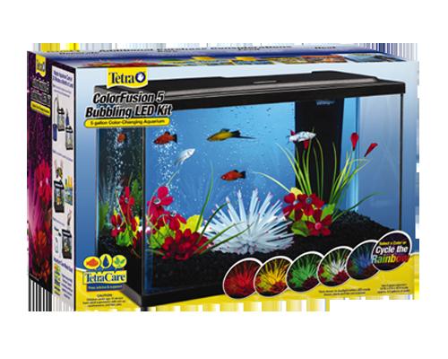 Picture of Tetra Colorfusion Bubbling LED Aquarium Kit - 5 Gallon