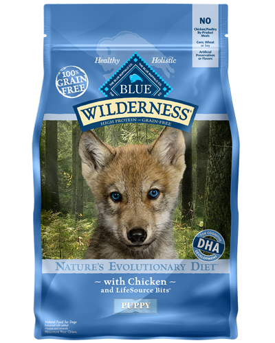 Picture of Blue Buffalo Wilderness Grain Free Chicken for Puppies - 4.5 lb.