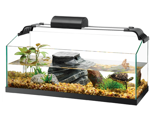 Picture of Zilla Premium Rimless Aquatic Turtle Habitat Kits - 40 Breeder