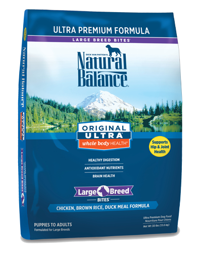 Picture of Natural Balance Original Ultra Whole Body Health Chicken, Brown Rice, and Duck Meal Large Breed Bites Formula - 30 lb.