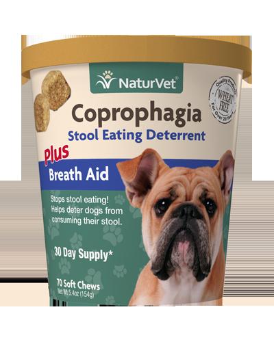 Picture of NaturVet Coprophagia  Stool Eating Deterrent Plus Breath Aid Soft Chews - 70 Ct