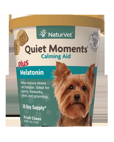 Picture of NaturVet Quiet Moments Plus Melatonin Soft Chew - 70 Ct.