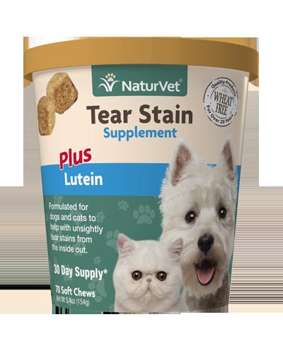 Picture of NaturVet Tear Stain Plus Lutien Supplement - 70 Chews