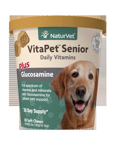 Picture of NaturVet VitaPet Senior with Glucosamine Soft Chews - 60 Ct.