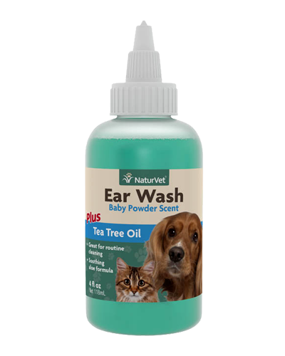 Picture of NaturVet Ear Wash with Tea Tree Oil - 8 oz